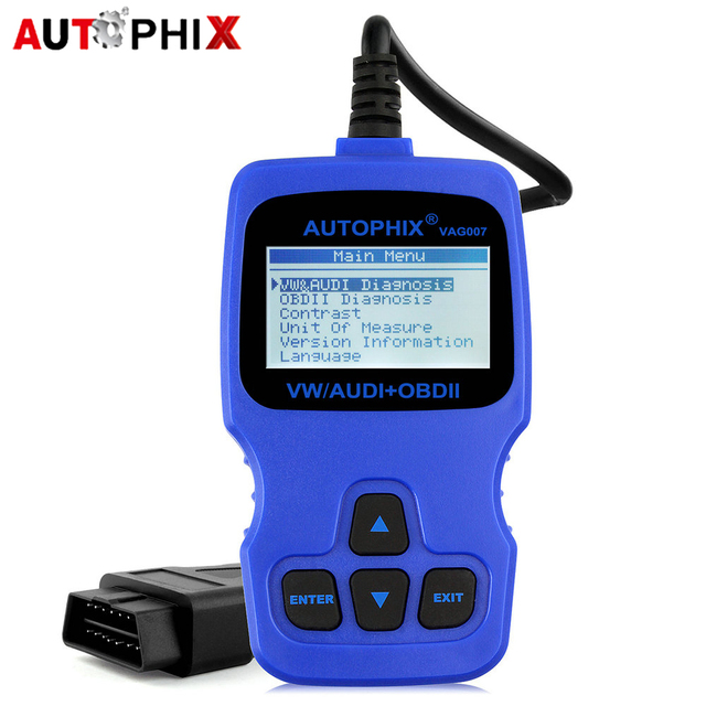 US $52 22 |Universal Automotive Scanner for Audi VW Polo Passat Clear ABS  Airbag Trouble Codes OBDII OBD2 Scan Tool German Vehicles VAG007-in Code
