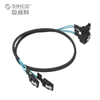 ORICO CPD 7P6G BW902S Original SATA3 0 Two Set Data Cable Solid SSD Hard Line Black