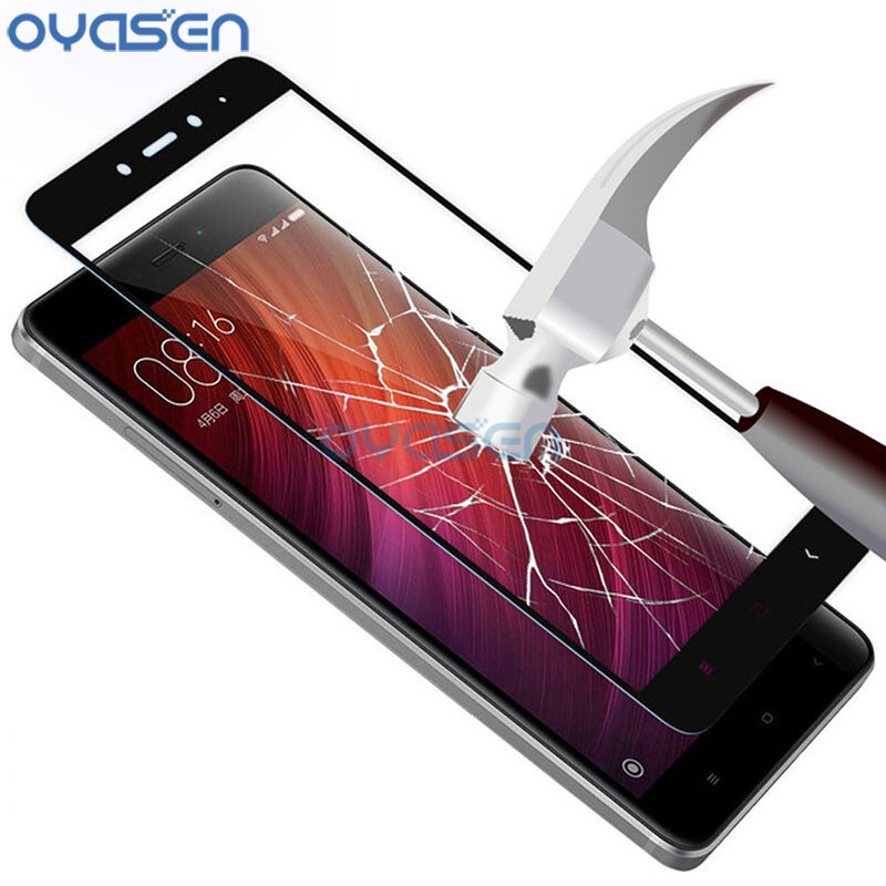 Full Cover Screen Protector For Xiaomi Redmi 4X Note 4 4X Pro 9H Explosion Proof Tempered Glass Smartphone Protective Guard Film in Phone Screen Protectors from Cellphones Telecommunications