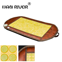 50*95CM Natural Real Jade Stone Tourmaline Heating Pad Thermal Massage Mat Far Infrared Ray FIR Heat Ceramic Mattress J2221