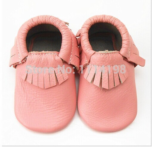mixed color  fringe Genuine Leather Toddler Baby Moccasins with bow Infant Baby First Walker Girl Shoes Chaussure Bebe Sapatos