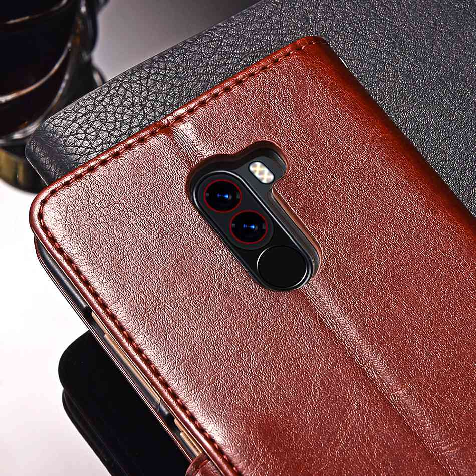 TOMKAS Pocophone F1 Case POCO F1 Global Flip Wallet With Stand Vintage Leather Silicone Back Cover Case For Xiaomi Pocophone F1 (17)