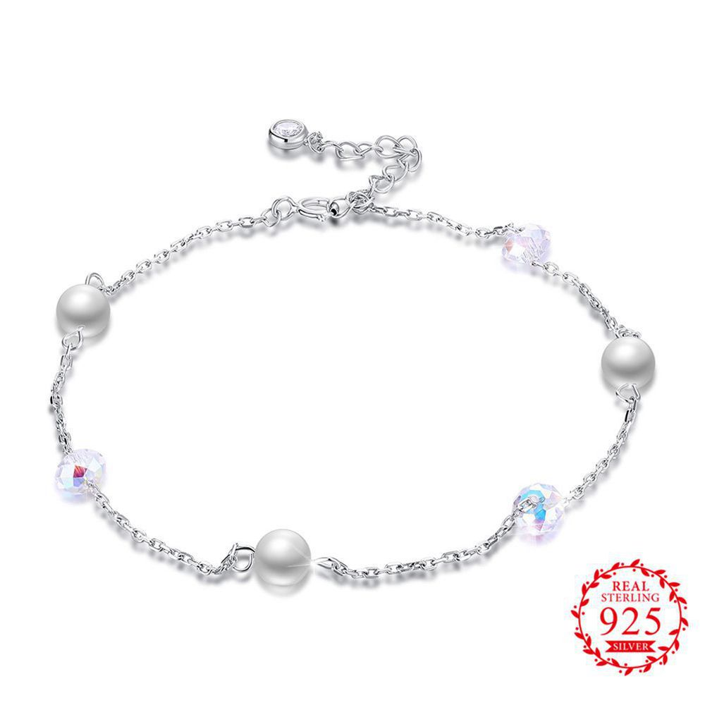 Gorgeous Trendy Gift For Lover/Girlfriend/Sister Romintic Anklet 925 Sterling Silver Modern Charming Women Girl Jewelry