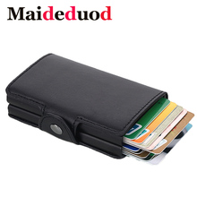 Maideduod New Card Wallet Case ID Metal Credit Holders With RFID Vintage Business 2 Aluminum for