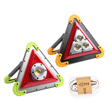 COB LED warning light truck strobe emergency USB charging outdoor waterproof camping rechargeable tail