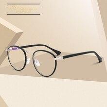 Retro Myopia Round Glasses Eyeglasses Women Frame Acetate Brand Designer Vintage Eyewear Prescription Grade