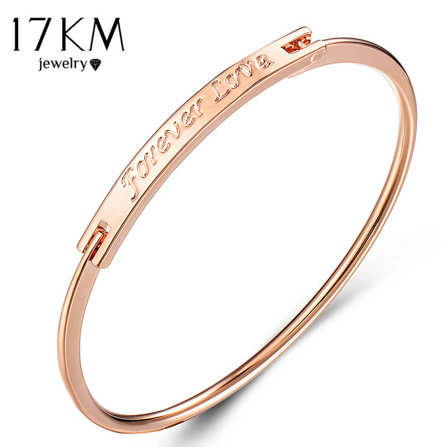 17KM Fashion Forever Bracelets & Bangles For Women Vintage Rose Gold Silver Colo