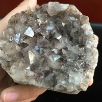 275g Özel Doğal Temizle ve Işık Purply Akik Ametist Geode Özel Numune Reiki Şifa Mineraller Süsler Sıcak Satış