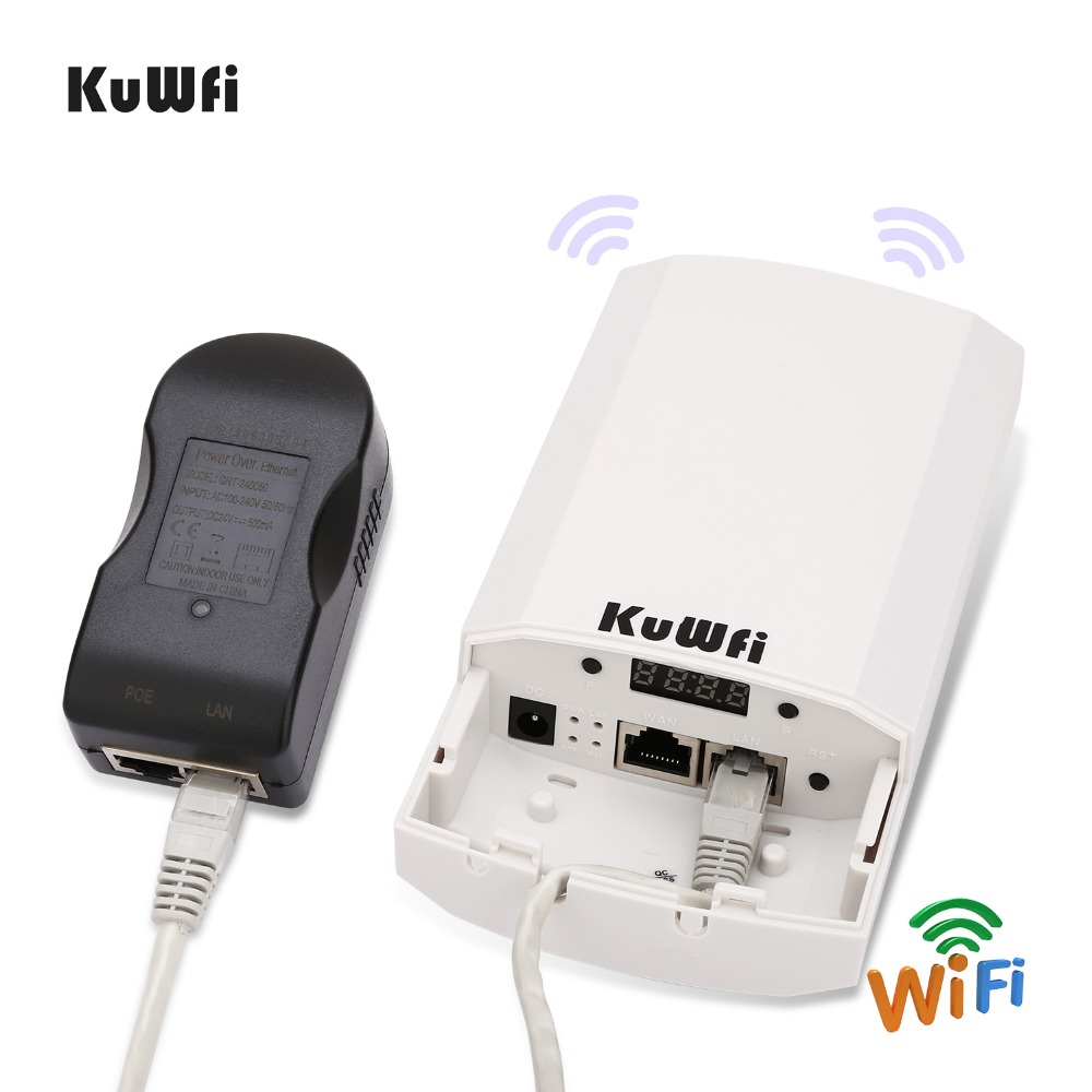 Image 2 - RU Shipping 2 PCS 2.4Ghz 300Mbps 2KM P2P No Setting Wireless Outdoor CPE Router Bridge Access Point Support WDS with LED Display-in Wireless Routers from Computer & Office