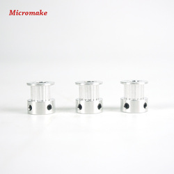 Micromake 3d printer parts 3pcs lot gt2 16 tooth bore 5mm synchronous wheel diy 3d printer.jpg 250x250
