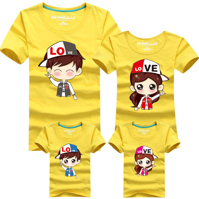 Cartoon Characters Shirts : Family cartoon couple t shirt matching mother daughter son