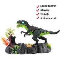 Jurassic tuổi Khủng Long Cháy hot bán đồ chơi điện tan chảy điều khiển âm thanh cảnh dinosaur với ống bút chức năng cho trẻ em quà tặng