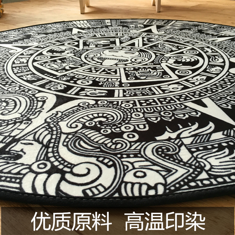 high quality acrylic captain round rugs living room doo