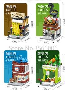Image 3 - واحد بيع شارع صغير سلسلة كعكة متجر خدمة مركز الحي الصيني اللبنات التعليمية MOC مجموعات نماذج للطفل