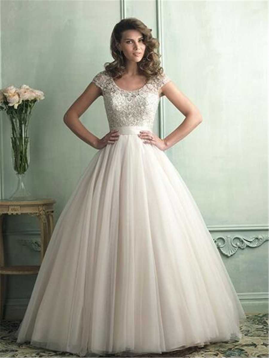 25 breathtaking wedding dresses to obsess about beige wedding dress Y LaceWeddingDresses