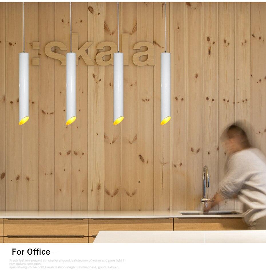 pendurado, lâmpada longa para cozinha e sala