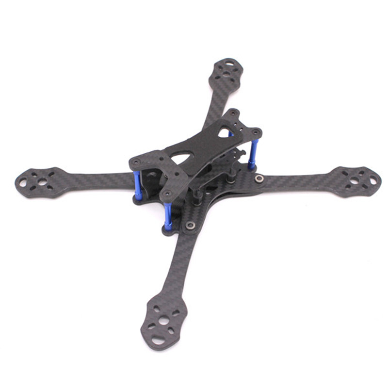 PUDA TrueXS 220mm 5 Inch Stretched RC Drone FPV Racing Frame Kit Carbon Fiber 4mm Arm Thickness For RC Multi Rotor Spare Parts niono trex8 6 220mm lite 4mm arm frame kit w 5 8g 200mw 600mw fpv vtx for rc drone fpv racing quadcopter multirotor helicopter