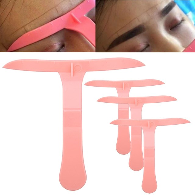 4pcs/Set Classic Tattoo Stencil Ruler Marker Template Eye Cosmetic Magical Grooming Shape Model Permanent Makeup Eyebrow Tool