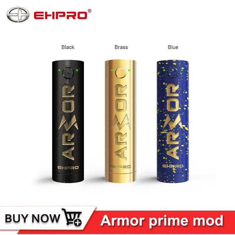 Origine Ehpro Armure Premier Mécanique Mod Noir Couleur 510 Fil 20700 18650 Batterie Électronique Cigarette Vaporisateur Mech Mod Laiton