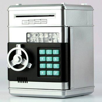 Электронный Копилка Сейф коробки для денег для детей Цифровые Монеты экономия денег Сейф Банкомат машина ребенок Рождественский подарок