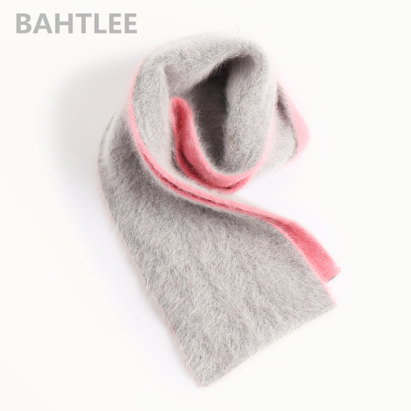 BAHTLEE Winter Women's Long  Wool Scarf Angola Knitting Thick Scarf Keep Warm Fashion Brand Style Perfect Neutral