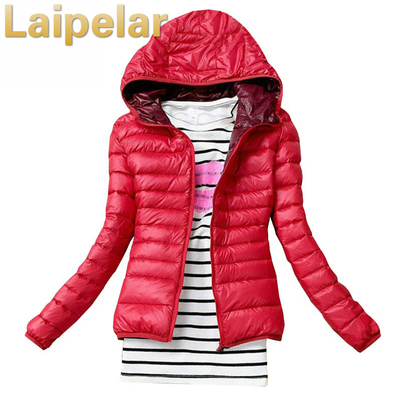 Laipelar 2018 Autumn Winter Women   Basic     Jacket   Coat Female Slim Hooded Brand Cotton Coats Casual Black   Jackets