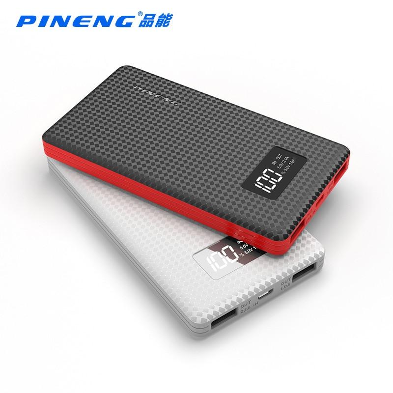 Pineng original nueva pantalla lcd banco de la energía 6000 mah dual usb portáti