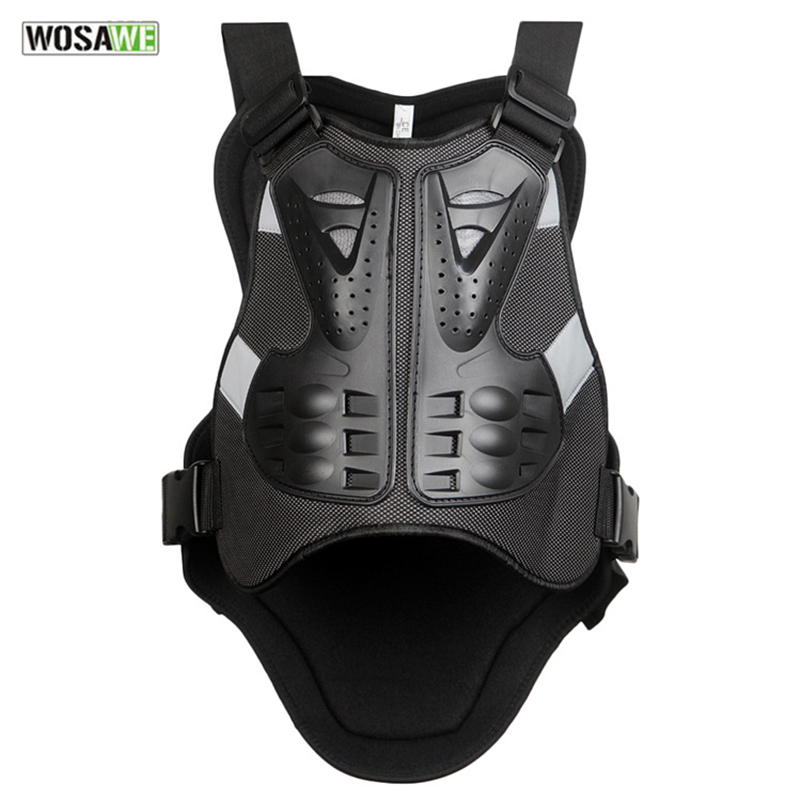 WOSAWE Bicycle Vest Motorcycle Skiing Racing Body Spine Armor Protector Backpiece Back Armor Protect Cycling Vest
