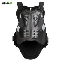 WOSAWE Bicycle Vest Motorcycle Skiing Racing Body Spine Armor Protector Backpiece Back Armor Protect Cycling Vest Back Support