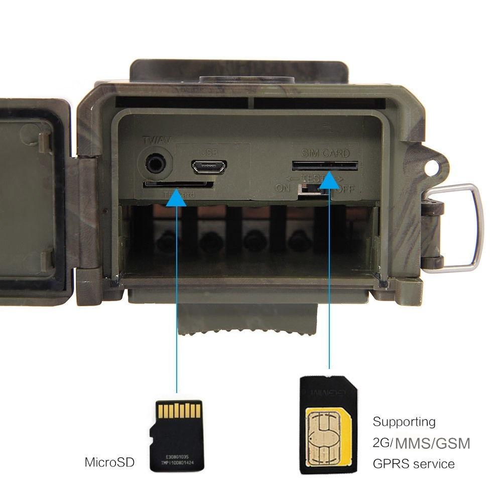Pièges Photo 12MP Email MMS GSM 1080 P pièges de chasse à Vision nocturne HC300M caméra de chasse sauvage caméra de piste caméra de chasse de la faune - 4
