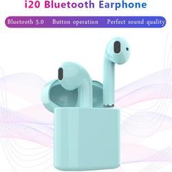 I20 СПЦ беспроводные наушники bluetooth Pop Up + Touch Функция + Беспроводной зарядки 1:1 мини-наушник Super Bass звук гарнитуры Pk i40 i30