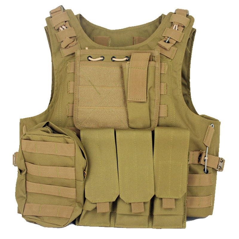 Tactical Vest Military Molle Airsoft Plate Carrier Paintball Ammo Chest Rig Hunting Harness