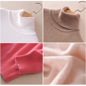 Image 4 - Cashmere sweater womens high collar women plus size winter knitted cashmere sweater for women warm sweaters Women