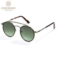 Bcollection Модные солнцезащитные очки Для женщин Для мужчин в стиле ретро круглые очки UV400 металлические очки с ацетатной оправой lentes gafas de sol mujer