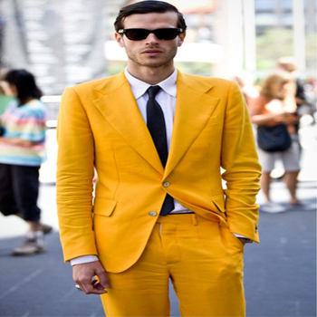Groom Tuxedos Men Casual Suit Men Wedding Prom Party Suits Brides Groomsman Suit (Jacket + Pants) terno Custom Made
