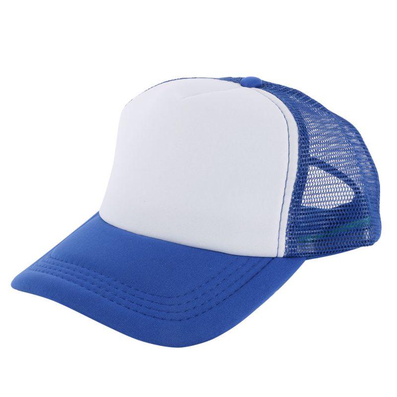 Attractive Unisex Casual Hat Solid   Baseball     Cap   Trucker Mesh Blank Visor Hat Adjustable