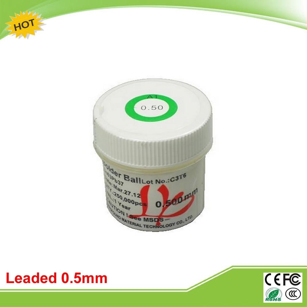 PMTC 250k 0.5 mm leaded solder balls for bga rework reballing pmtc 250k 0 76mm lead free leaed free solder balls for bga chip reballing