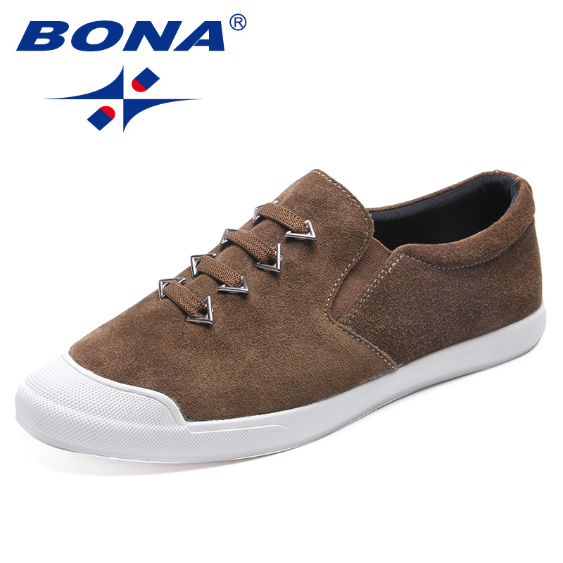 BONA New Typical Style Men Casual Shoes Elastic Band Men Loafers Suede Male Flats Comfortable Men Shoes Soft Fast Free Shipping cbjsho brand men shoes 2017 new genuine leather moccasins comfortable men loafers luxury men s flats men casual shoes