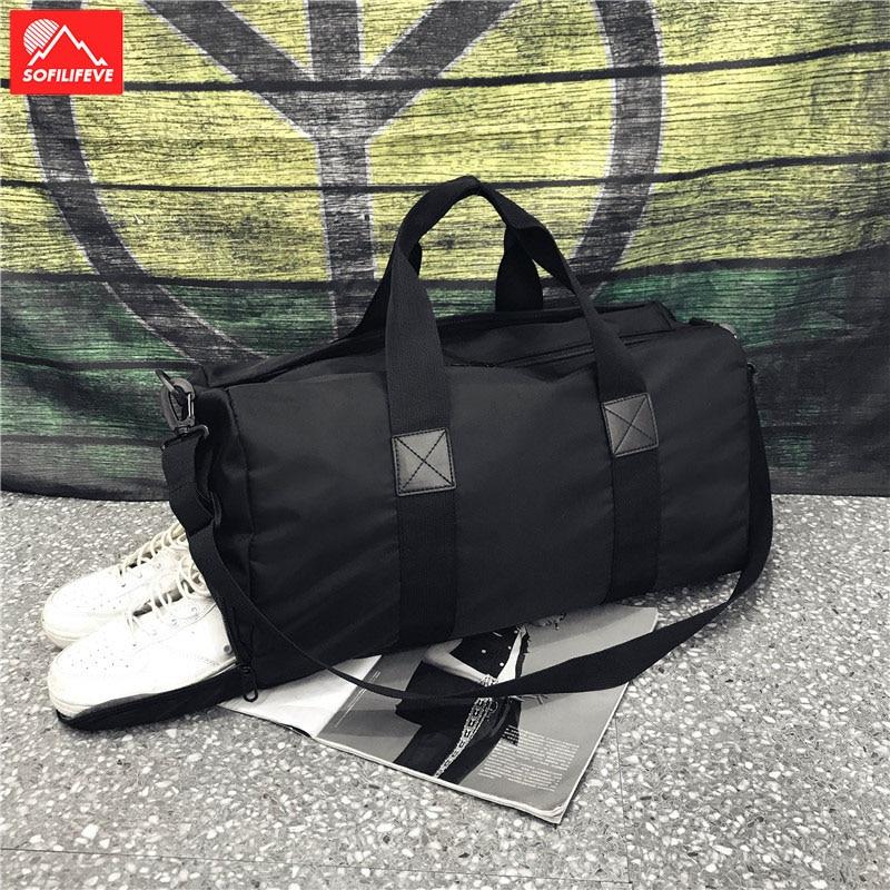 Men Women Large Sports Gym Bags With Shoes Compartment Waterproof Fitness Training Shoulder Bag Yoga Duffel Bags Travle Handbag