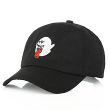 1PCs Ghost Caps Cotton Spooky Kawaii Embroidery Cap Snapback Sport Hip-hop Hat Hip Hop Men Women Streetwear Dad Hat Baseball Cap(China)