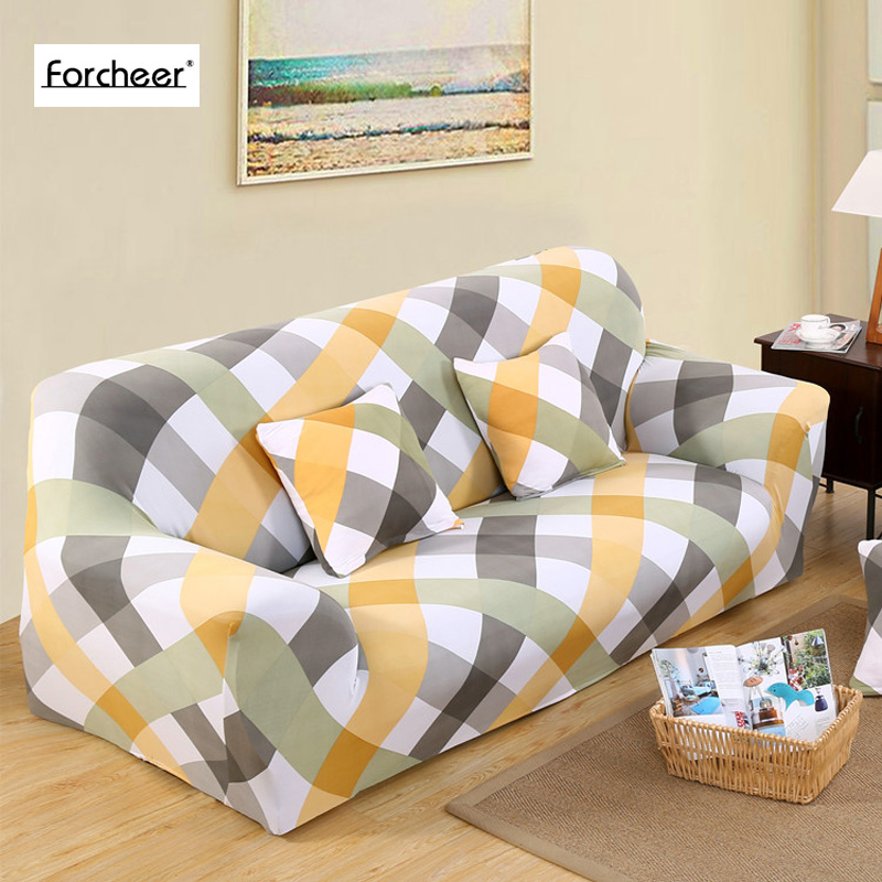 Elastic Sofa Cover Printed Flowers Slipcover Tight Wrap All Inclusive Corner  Sofa Cover Stretch Furniture