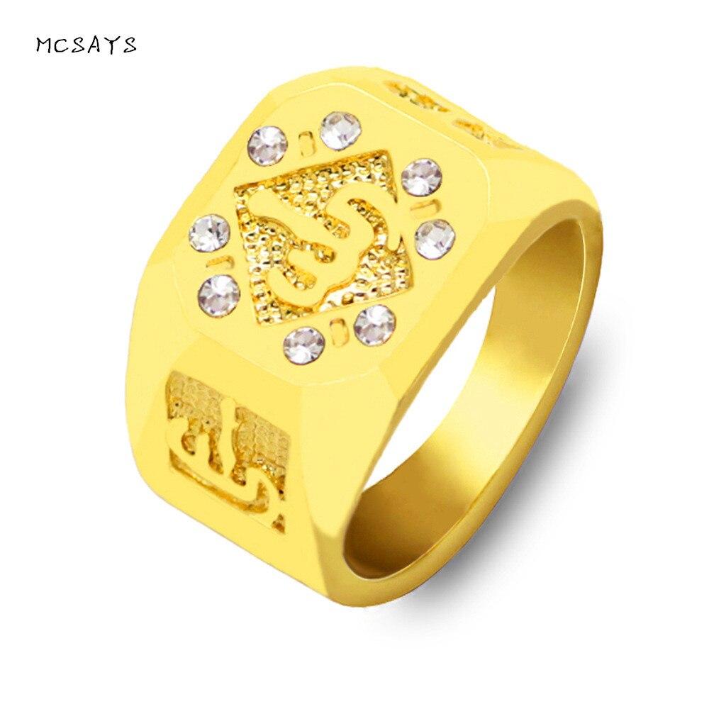 Hot Sale Mcsays Fashion Jewelry Rhinestone Islam Muslim Allah Totem