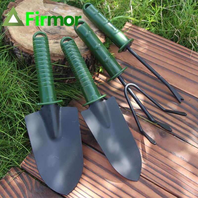 FIRMOR 4Pcs Garden Tool Set Flower Planting Combination Shovel Tool Set Tool Sets Mini Gardening Plant Tools Shovel Rake Spade