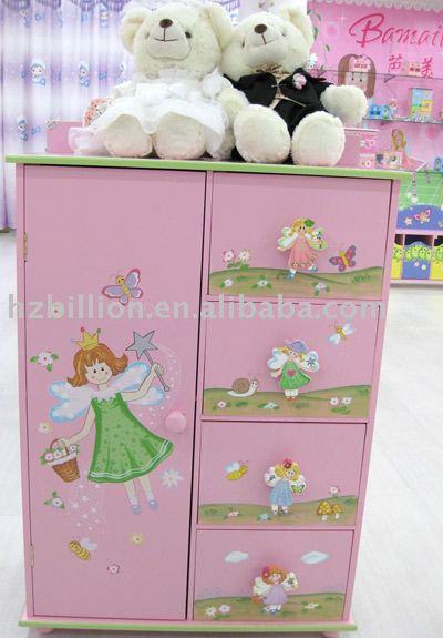 Elegant Wooden Kids Cabinet