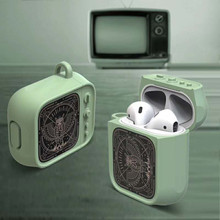 Cute Cartoon owl Small television Earphone Headset Accessories Silicone case For Airpods Wireless Bluetooth bags