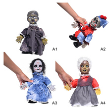 Creative Electric Glowing Walking Doll Toys Creepy Halloween Ghost Props Horror Halloween Decoration Party Suppies Kids Gift iwish halloween wind up green ghost goblin zombies jump vampire winding walking frankenstein jumping kids toys all saints day