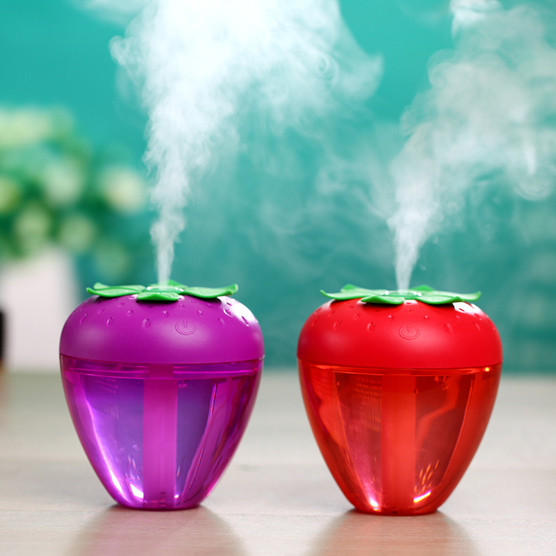 180ML Strawberry Pattern Humidifier Soft Night Light Function Air Purifier Whisper Quiet Mist Maker With Auto Power Off Protection