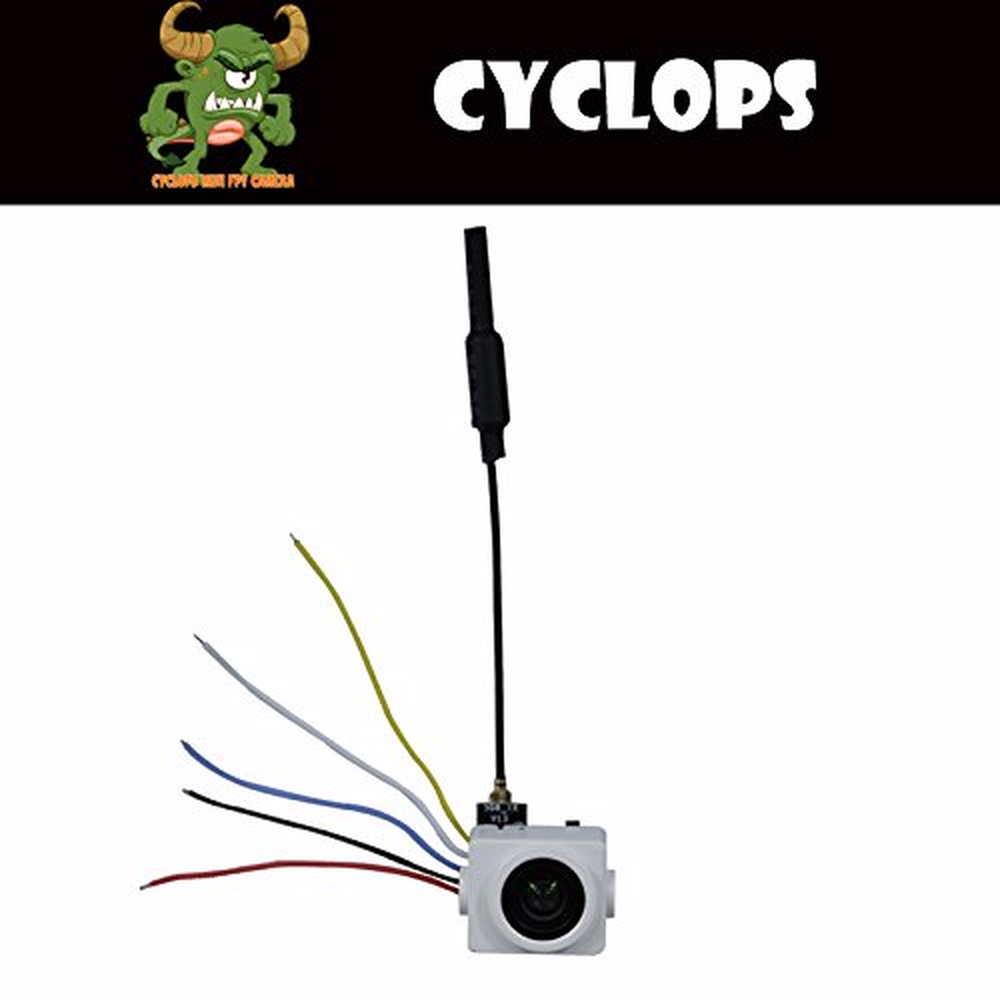 F Cloud Turbowing Cyclops V2 Mini 5.8g 25mw Wireless Aio Camera Vtx with IPEX Antenna, Support Smart Audio V1 Protocol