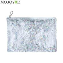 Fashionable Transparent Clutch Bag for Women Simple Handbags for Girl Simple Clear PVC Handbag Sequins Totes Mini Clutch Pouch(China)
