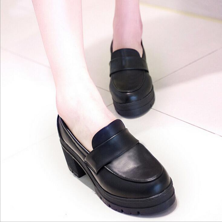 Uniform Shoes Uwabaki Japanese JK Women Girls School Students Lolita Shoes Black Red Beige Cosplay Shoes for Adult(China)